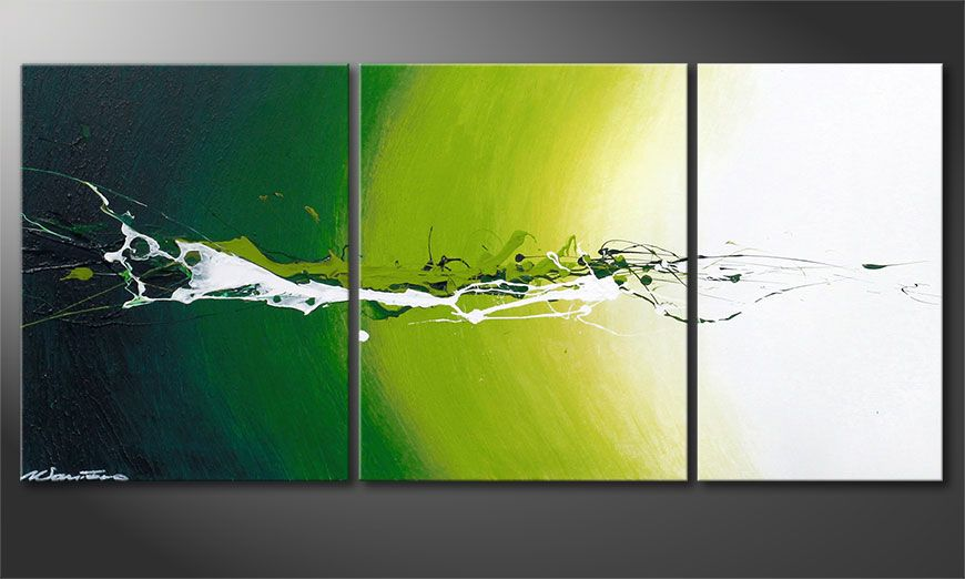Abstract painting Power of Nature 110x50x2cm