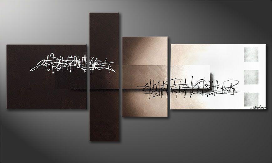 Acrylic painting Between Night & Day 160x80x2cm