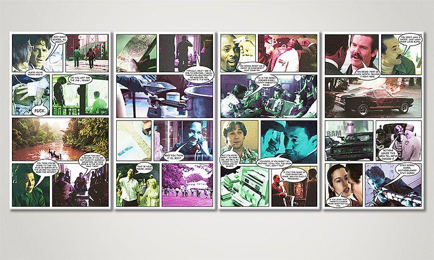 Art print American Gangster 160x70x2cm
