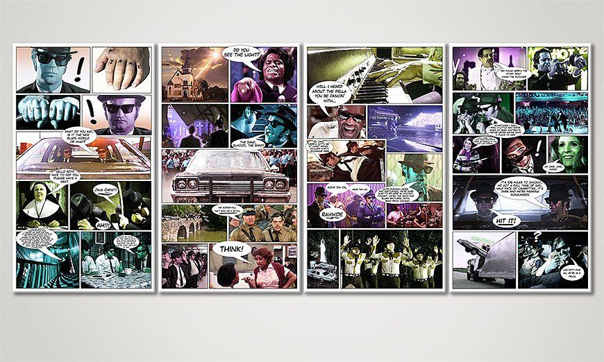 Art print Blues Brothers in 160x70x2cm