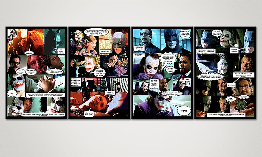 Art print Dark Knight in 160x60x2cm