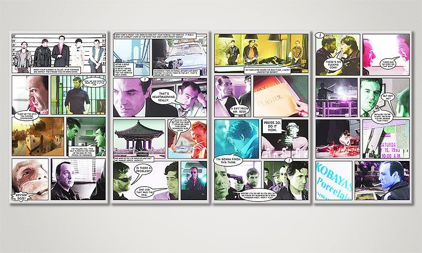 Art print The usual suspects 160x70x2cm