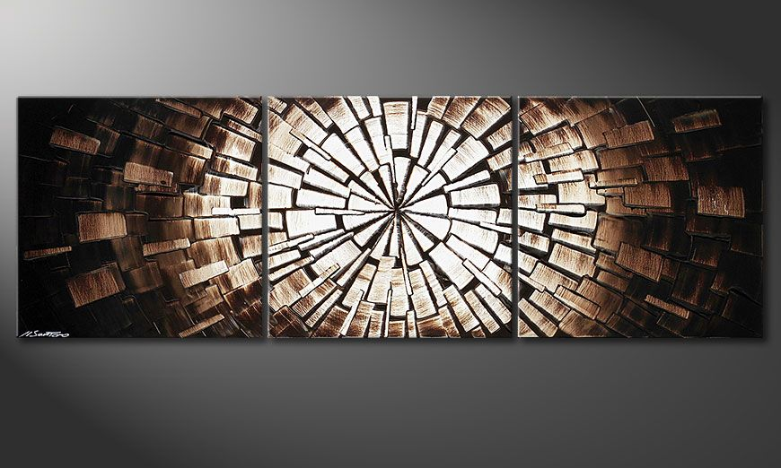 Beautiful painting Center of Babylon 150x50x2cm