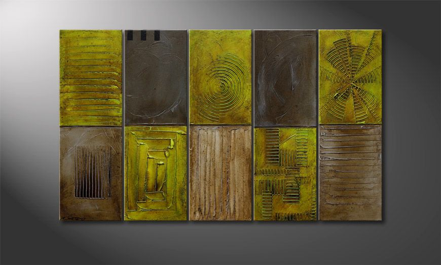 Canvas painting Clarity Signs 150x90x2cm