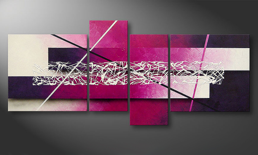 Canvas painting Connection 180x80x2cm