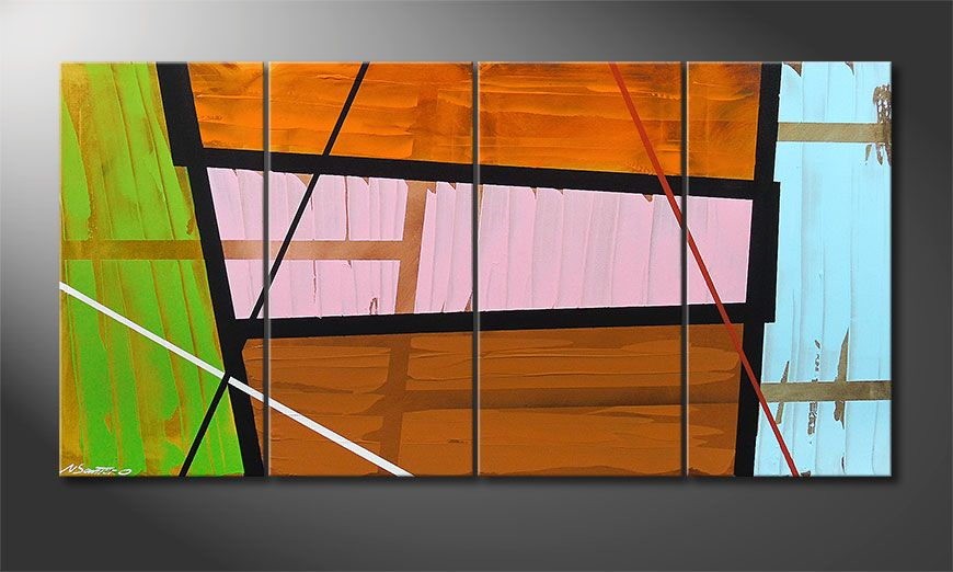 Canvas painting Elementary 160x80x2cm