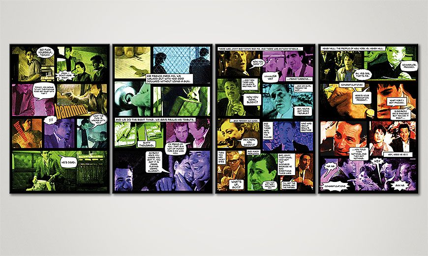 Comic Style print Good Fellas II 160x60x2cm
