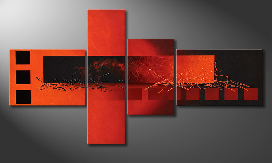 Exclusive painting Fiery Emotions 130x70x2cm