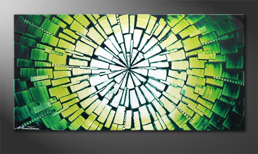 Framed painting Center of Jungle 120x60x2cm