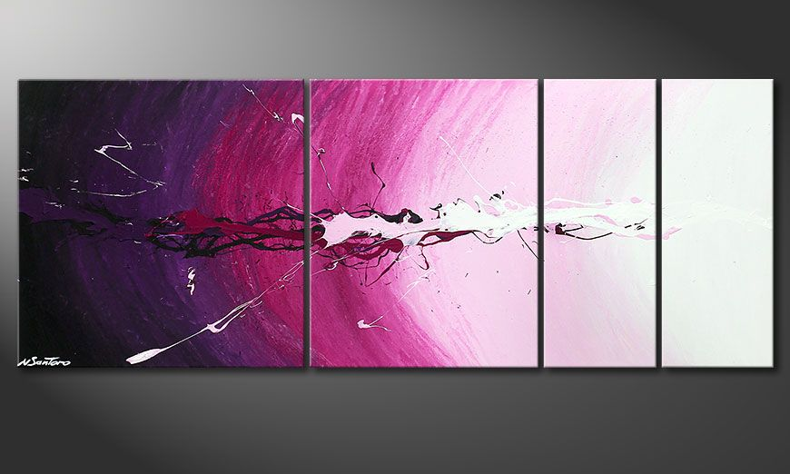 Framed painting Cosmic Splash 130x50x2cm