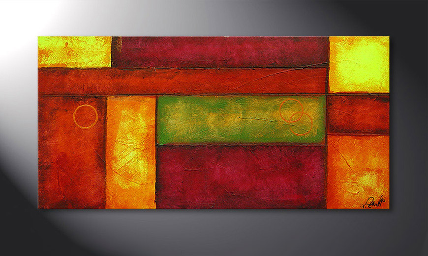 Hand-painted painting Come Together 120x60x2cm