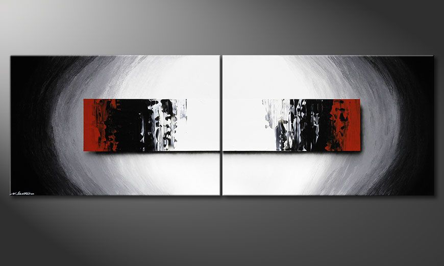 Large painting Deep Space 240x80x2cm