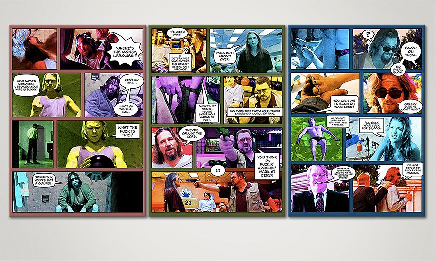 Living room art Big Lebowski 150x70x2cm