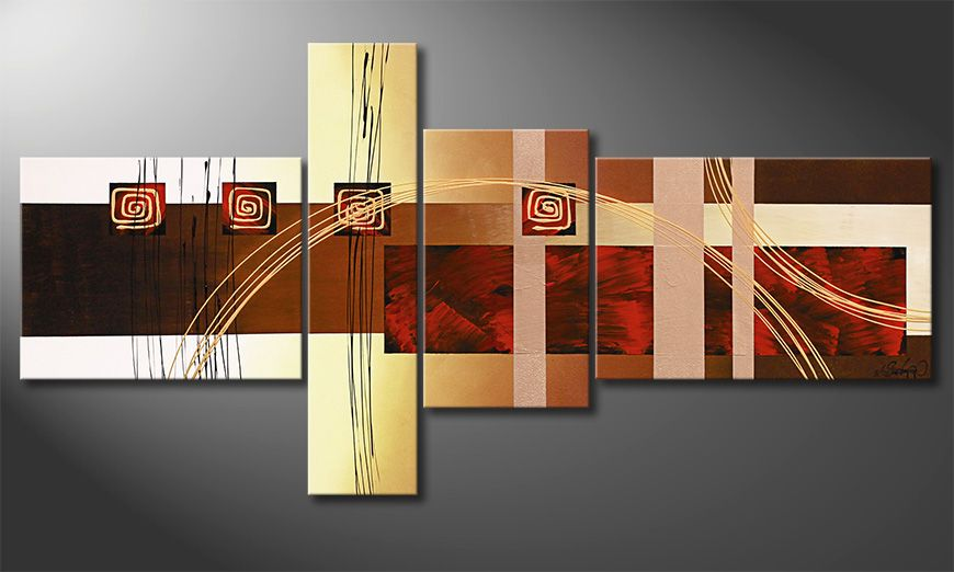 Living room art Golden Ways 160x80x2cm