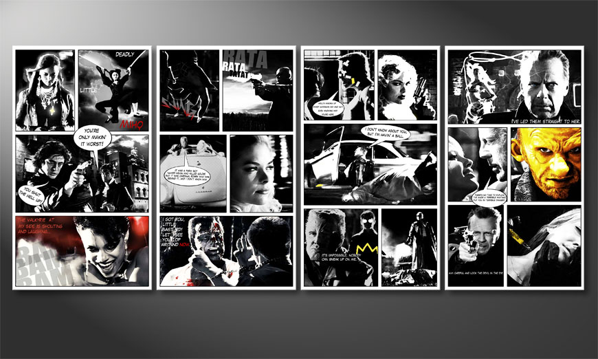 Modern Canvas print Sin City 160x70x2cm