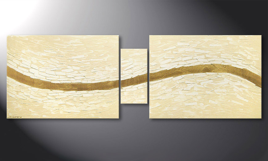 Modern Painting Mellow River 180x60x2cm