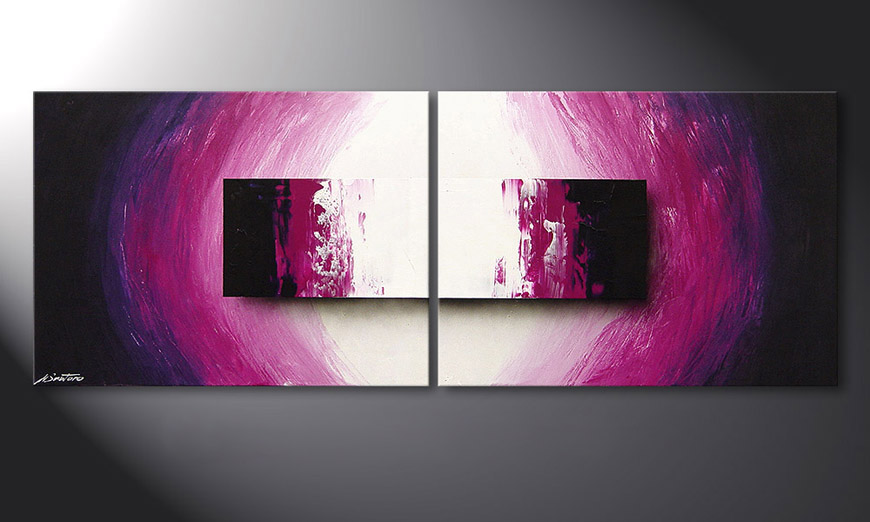 Modern Painting Purple Rain 160x60x2cm