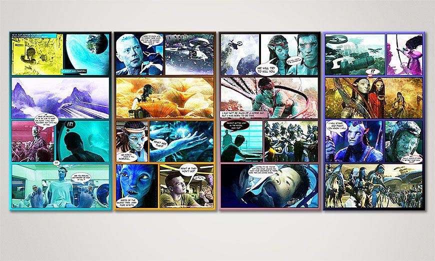 Modern art print Avatar 160x70x2cm