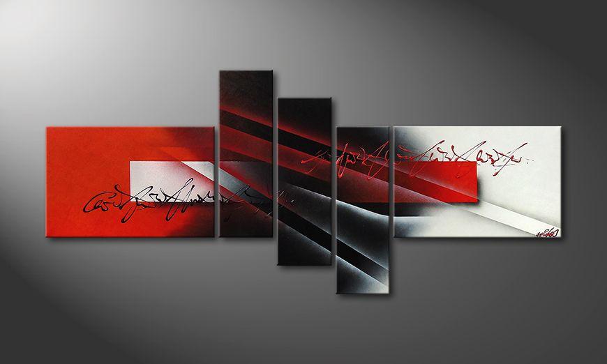 Modern painting Lights of Contrast 180x80x2cm