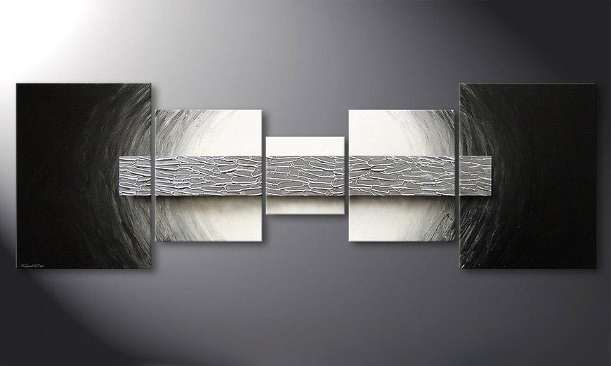 Modern painting Silver Bar 210x70x2cm