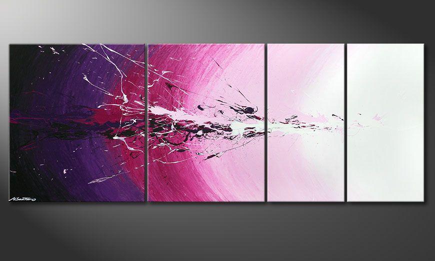 Multiframed painting Cosmic Splash 210x80x2cm