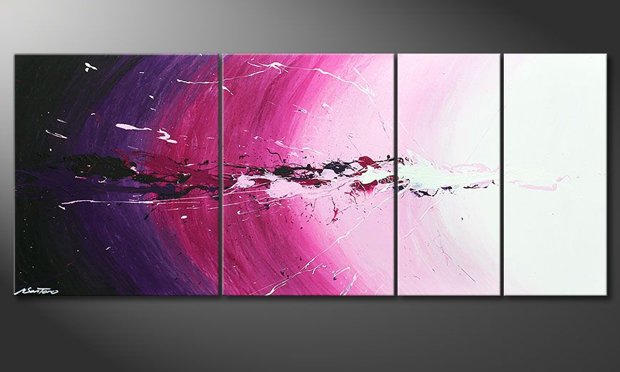 Painting Cosmic Splash in 170x70x2cm