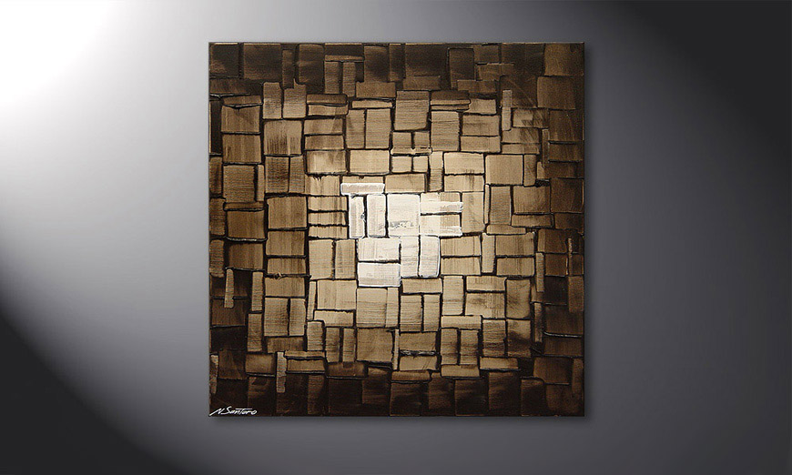 Painting Cubic Light in 80x80x2cm