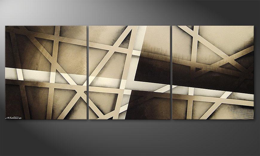 Painting Earthquake 180x70x2cm