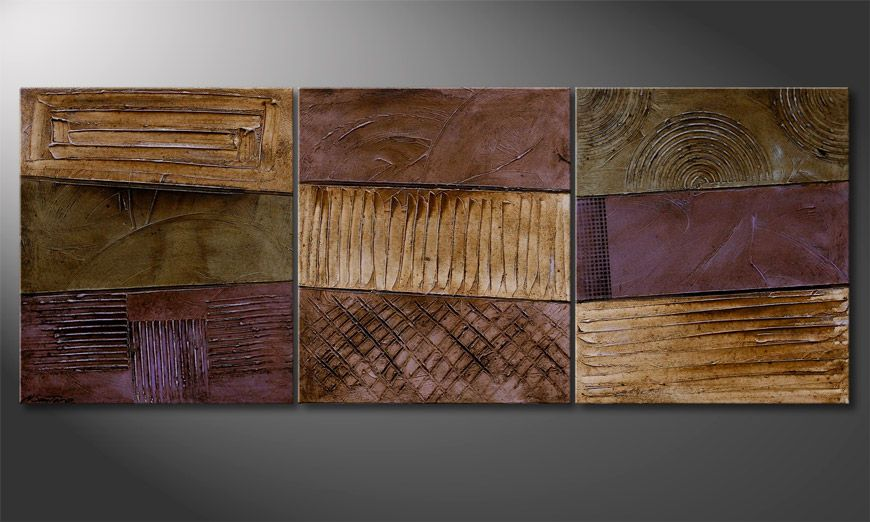 Painting Earthy Rupture 180x70x2cm