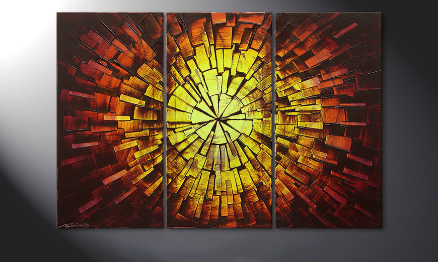 Painting Fiery Explosion 120x80x2cm