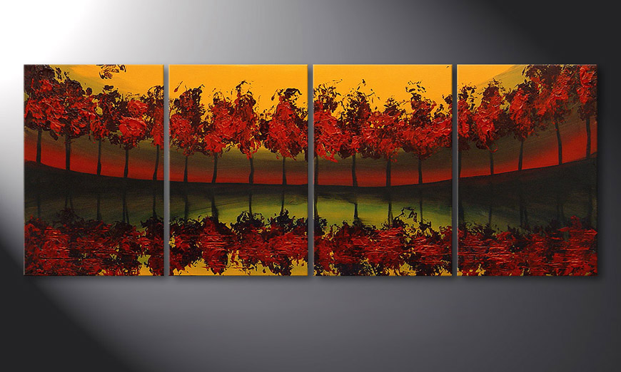 Painting Glowing Sky in 160x60x2cm
