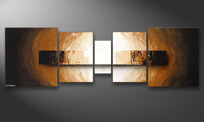 Painting Illuminated Earth 220x70x2cm