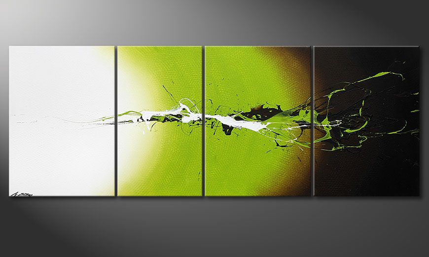 Painting Juicy Splash in 190x70x2cm