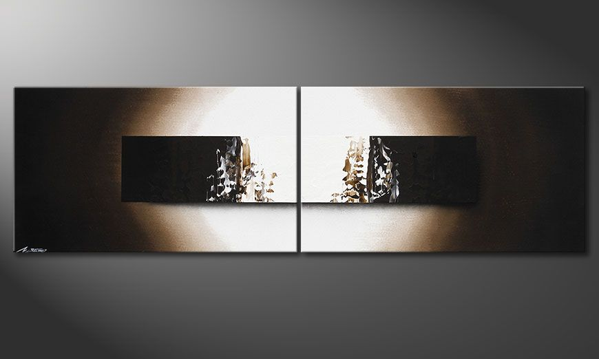 Painting Light Rain in 200x60x2cm
