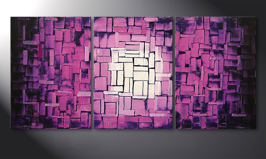 Painting Purple Afterglow 150x70x2cm