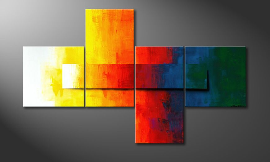 Painting Rainbow Colors 180x110x2cm