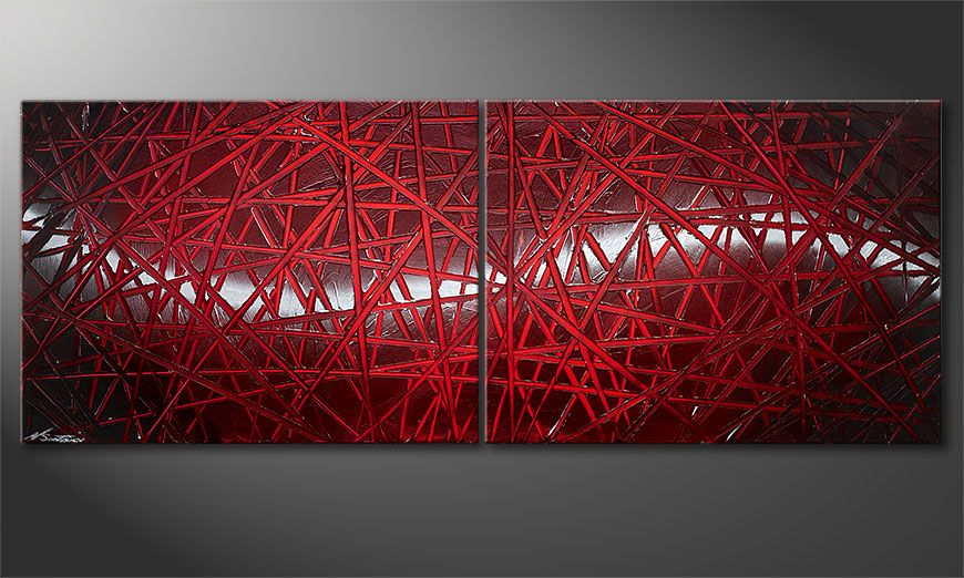 Painting Red Push 160x60x2cm
