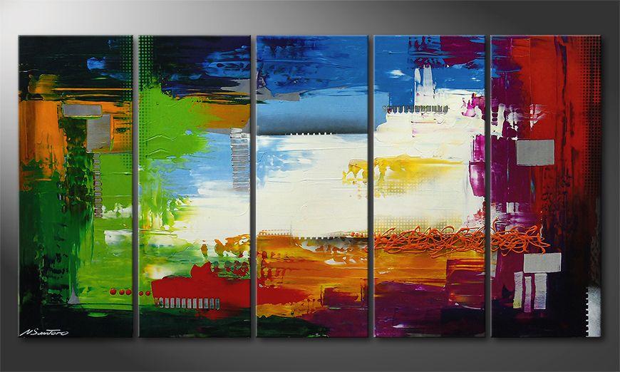 Painting Strange Day in 150x80x2cm