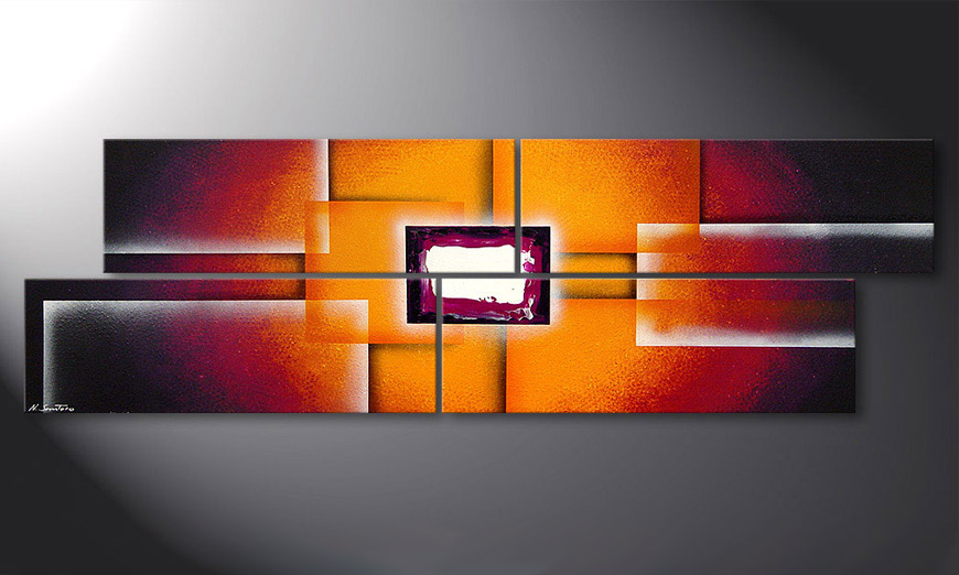 Painting Sunrise Construction 200x60x2cm