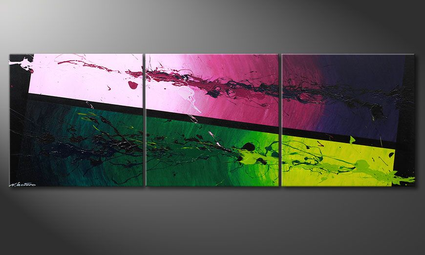 Painting Tropic Splash 210x70x2cm