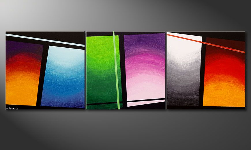 Painting Wave of Colors 210x70x2cm