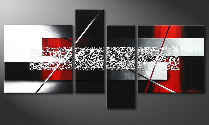 Small Canvas painting Sudden Inspiration 130x65x2cm