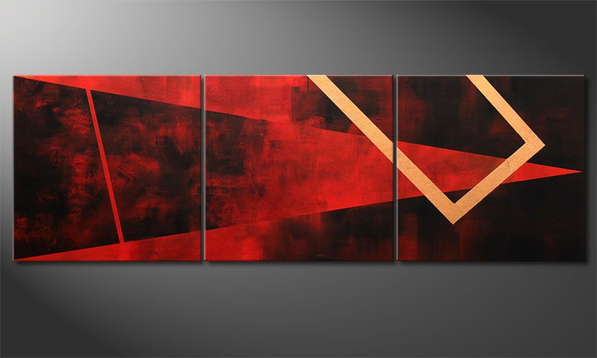 Wall art Golden Vision 210x70x2cm