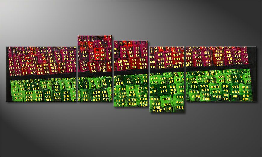 Wall art  Urban Oasis 210x70x2cm
