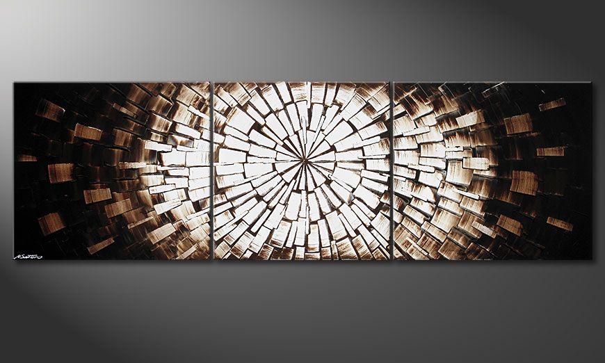 XXL painting Center of Babylon 260x80x2cm