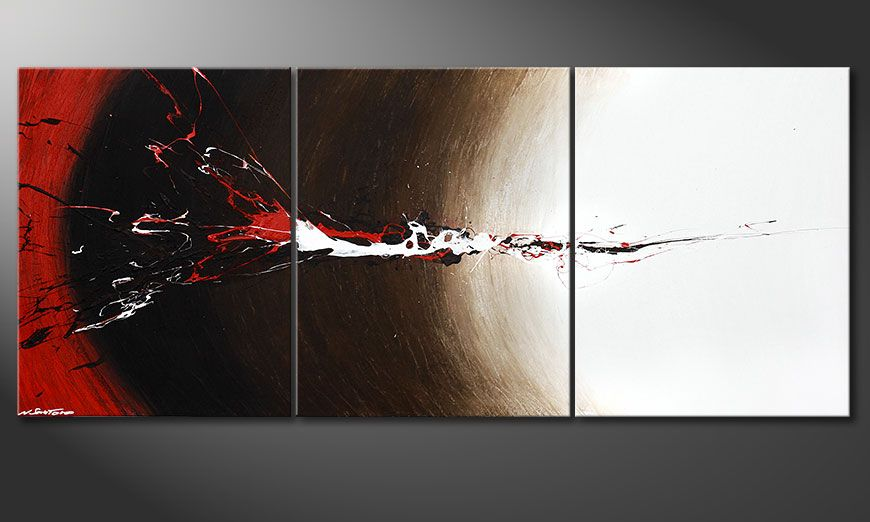 XXL painting Erupted Contrast 210x90x2cm