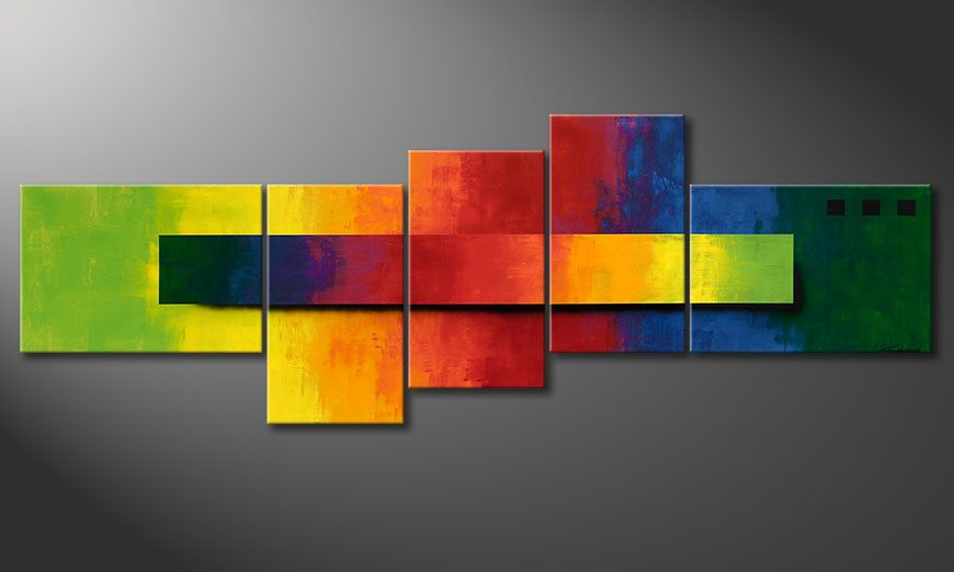 XXL painting Facets of a Rainbow 260x90x2cm