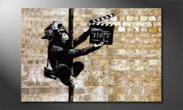 Canvas print<br>'Banksy No13'