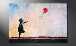 Canvas print<br>'Banksy No14'