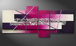 Canvas painting<br>'Connection' 180x80cm